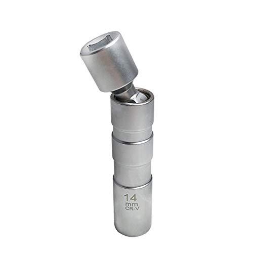 Ba30DEllylelly Llave Universal para Quitar Puntos de 14 mm, Herramienta de eliminación de bujías de reparación de automóviles, Enchufe magnético de bujía