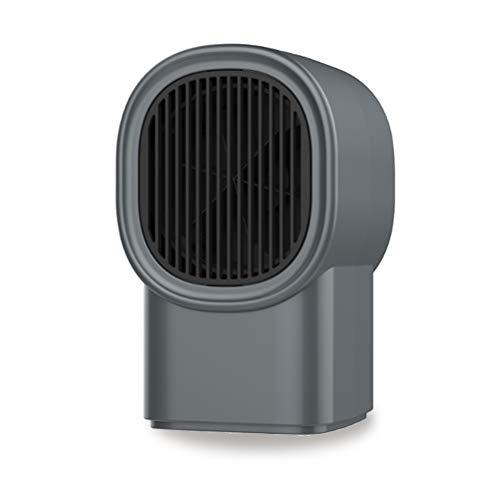 MIAOYO Calentador de Espacio, Calentador de Espacio pequeño de bajo Consumo para Dormitorio, Calentador de Espacio eléctrico de cerámica PTC para Autocaravana de Oficina y hogar,Negro