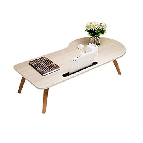 Escritorio para Laptop Mesa portátil Simple Plegable Mini Escritorio de Escritorio Escritorio portátil Soporte portátil Mesa Material de MDF Escritorio para sofá/Dormitorio/Cama superpuesta (90cm)