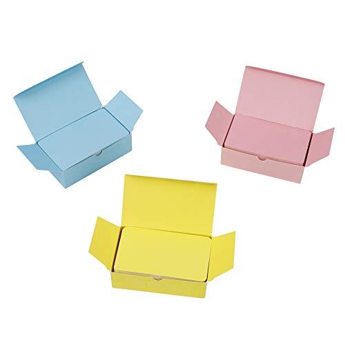 Tarjetas de Papel en Blanco 300 Piezas Tarjetas para Escribir Bloc de Notas para Memorizar DIY Mensaje Etiquetas de Regalo 9x5.4 cm (Amarillo/Rosa/Azul)