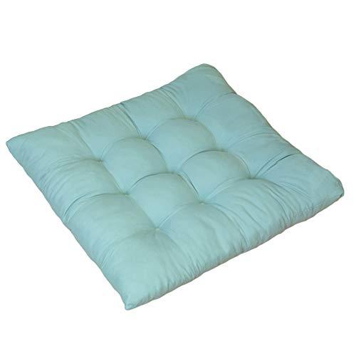 SWECOMZE 4 cojines para silla de 40 x 40 cm, cómodos cojines para sillas y bancos, cojines suaves, cojines para restaurantes y bancos, de algodón, antideslizantes, lavables (color 6, rectangular)