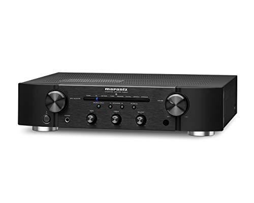 Marantz PM6007 HiFi Verstärker, Stereo Verstärker, 2x60W, optischer Eingang, Phono Eingang, Subwoofer Ausgang, Schwarz