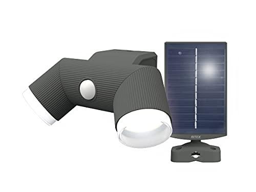 ムサシ RITEX ソーラー式シンプルスタイルセンサーライト 4.5W×2灯 S-CY60