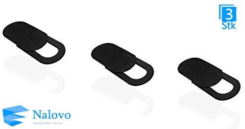 Nalovo Webcam Abdeckung für Computer | Starker Kleber | MacBook Pro, MacBook air, Laptop, iMac, iPad, PC, iPhone, Kamera Abdeckung | Web Camera Cover