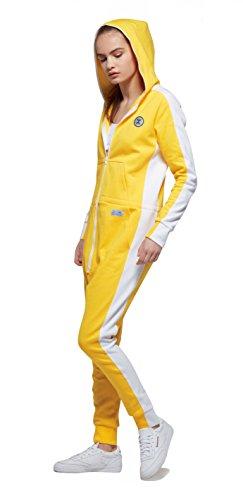 OnePiece Damen Jumpsuit Racer, Gelb (Yellow) - 4