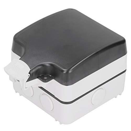 Caja de enchufes impermeable antienvejecimiento de 5 orificios Caja de enchufes para exteriores estable para balcón