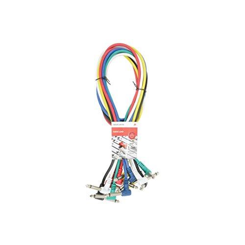 Chord - Juego de 6cables de conexión en ángulo derecho - 1metro