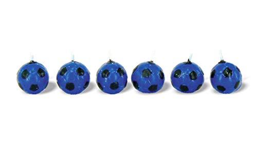 BUYLLOON HOME kaarsen Inter voetbal, zwart, blauw, voor verjaardagsfeest, taartdecoratie (Inter)