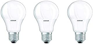 Osram LED Value Classic A60 Bulb E27 8.5W Daylight, UV and Flicker Free, No Blue Light Hazard, 806lm 6500K Frosted with ES...