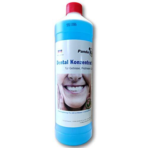 Dental Konzentrat Ultraschallreiniger - Entfernung von Belägen und Verfärbungen - für Gebisse, Prothesen, Zahnersatz & Zahnspangen (1000 ml)