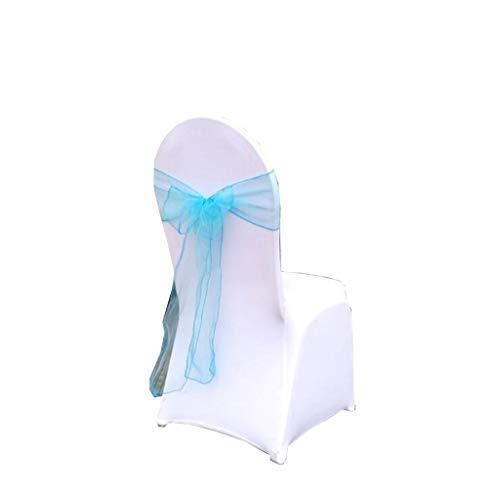 Paquete especial nupcial de 25 piezas Sillas de silla de organza de 7'x108' Fajas de lazo para bodas y eventos Suministros Decoración de fiesta Rojo