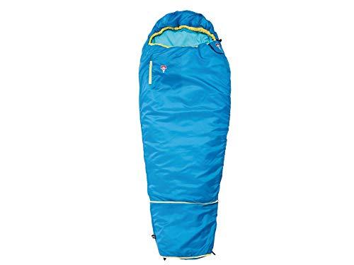 Grüezi-Bag Kids Grow Colorful Water Blue Mitwachsender Kinder Schlafsack, Körpergröße 100-150 cm, Mumienschlafsack, 1000g, Ø21 x 15 cm, raschelfrei