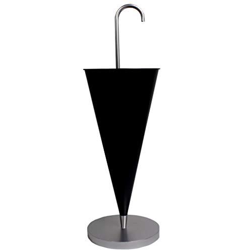 Tao Soporte de Paraguas de Hierro Oficina en el hogar Papelera de Almacenamiento de Pintura Decorativa a Prueba de Humedad Función multifunción Cubo de Paraguas Europeo 33.6x11.8in (Color : Negro)
