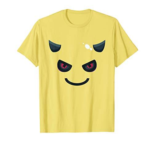 Teufel Emoji Lächeln Böser Blick Karneval Faschings Kostüm T-Shirt