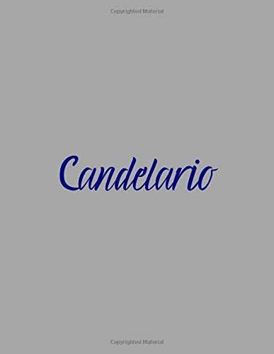 Candelario: notebook with the name on the cover, elegant, discreet, official notebook for notes, dot grid notebook,