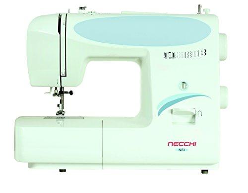 Necchi N81 Macchina per Cucire, Interno in pressofusione in Alluminio, scocca in ABS, Light Blu, Regular