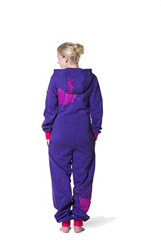 Jumpster Damen und Herren Jumpsuit Langer Overall First G. Slim Fit Pink - 2