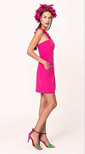 TONALA | Vestido Corto Mujer Fiesta Casual Verano Liso Tirantes | Vestido Boda Coctel invitada | Vestido para Evento de día (Rosa, m)