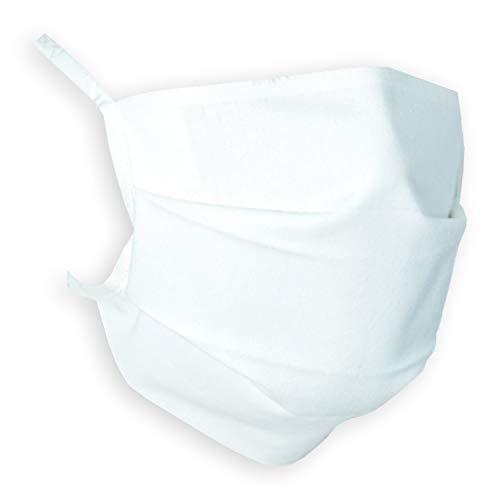Wistatex TL883 - Textile Mund- und Nasenmaske, 10er Pack, 19x10cm, Weiß, waschbar