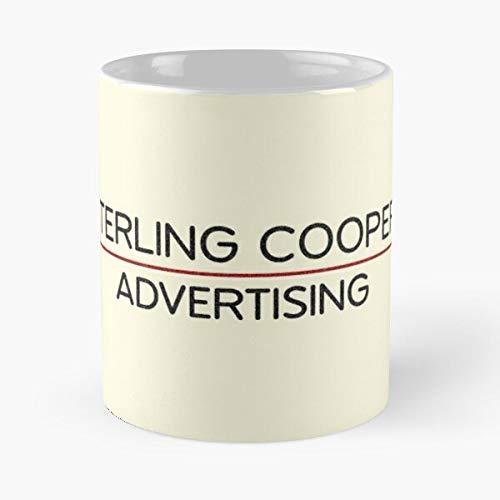 Desconocido Don Roger 1960S Logo Mad 60S Advertising Men Cooper Sterling Draper Taza de café con Leche 11 oz