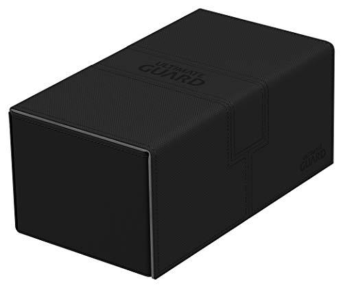 Ultimate Guard - Contenitore per Carte da Gioco e Dadi XenoSkin 200 Plus, Colore: Nero