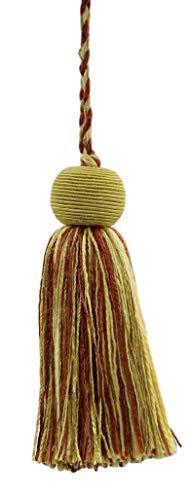 Set of 10 Decorative 10cm Tassel|Camel Gold, Beachwood Gold, Dark Rust|Veranda Collection|Style# VTS|Color: Golden Harvest - VNT31