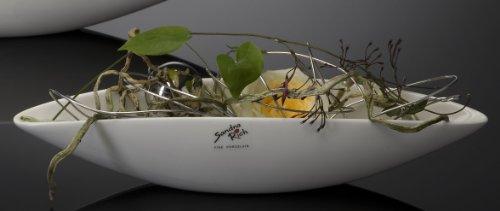 Porzellanschale Porzellan Schale Konfektschale länglich weiß ca. 31 cm