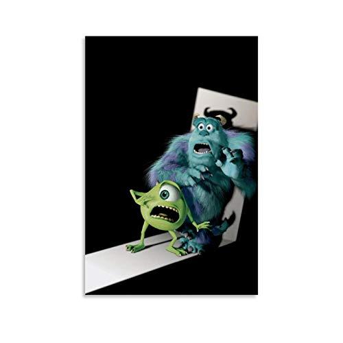 Póster de Dragon Vines Monsters University, Sally Monster y Mike Big Eye Wall Art - Decoración de aula (60 x 90 cm)