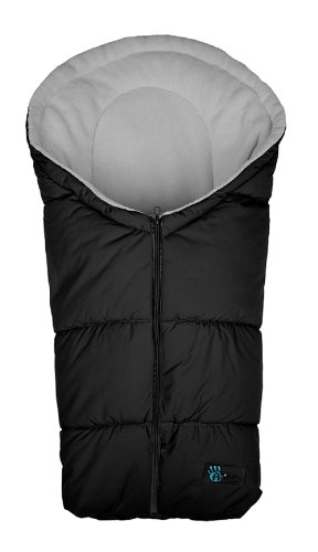 Altabebe AL2006-12 Winterfußsack Active Collection für Babyschale und Car Seat, Gruppe 0 Plus, schwarz / hellgrau