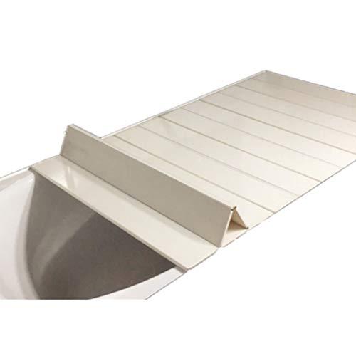 Badkuiphoes, milieuvriendelijk PVC Anti-stof Vouwen Stofplaat voor de meeste standaard maten Badkuipen 165 * 80 * 0.6cm