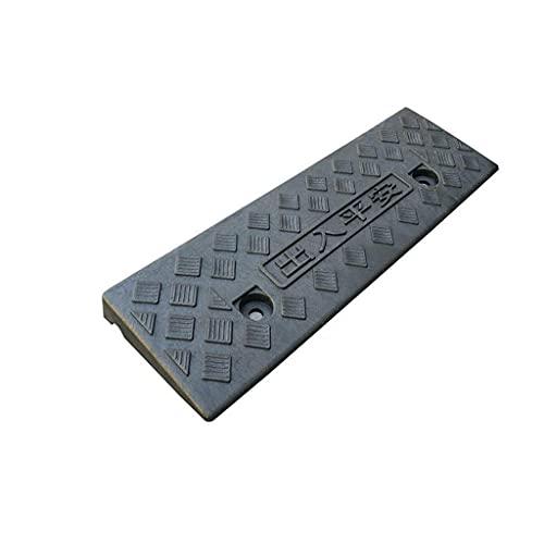 WEDF Rampas portátiles, Plataforma de plástico para Pendientes, pequeñas rampas para sillas de Ruedas Antideslizantes, rampas de umbral para el hogar, Negro (tamaño: 47,5 15 3 cm)