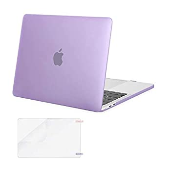 MOSISO Compatible with MacBook Pro 13 inch Case 2016-2020 Release A2338 M1 A2289 A2251 A2159 A1989 A1706 A1708 with/Without Touch Bar Plastic Hard Shell Case Cover & Screen Protector Light Purple