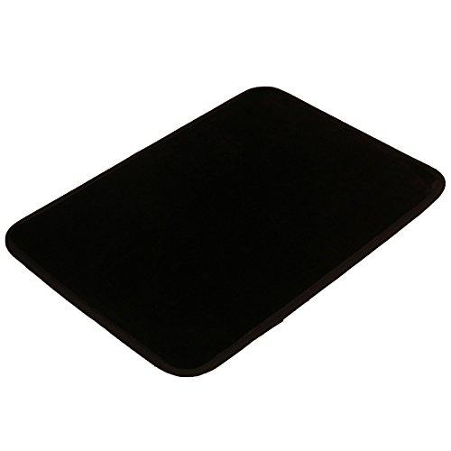 Flannel Floor Mat For Kitchen, Washing Room, Living Room And Bedroom Black