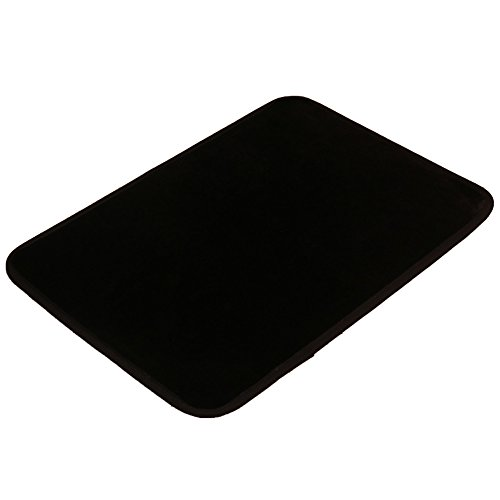 Flannel Floor Mat For Kitchen, Washing Room, Living Room And Bedroom Black