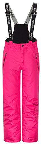 icefeld Skihose/Schneehose wasserdicht für Mädchen, pink in 122/128