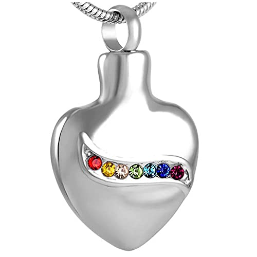 Ysain Colgantes Cenizas Collar De Urna De Cremación De Corazón Bonito De Diseño Hábil De Acero Inoxidable para Mujer Al por Mayor, Joyería De Ceniza