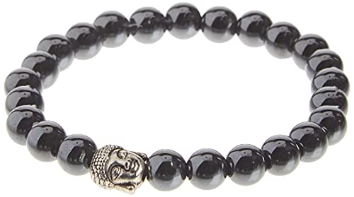 Original Chakra Infused Buddha Bracelet with Spiritual Hematite Healing Stones - Adjustable Sizing for Women, Men and Yogis - Earth Therapy