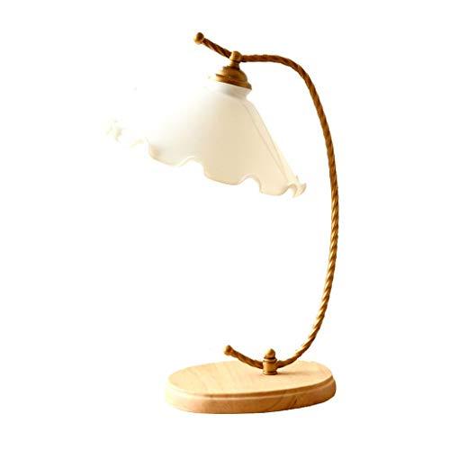 SMEJS Lámpara de mesa de noche lámpara de mesita de noche dormitorio nórdico moderno minimalista niña creativa americano cálido hogar estudio decoración