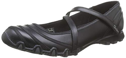 Skechers Bikers - Ribboneer, Women's Round Toes, Black, 3 UK (36 EU)