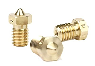 Genuine E3D Brass Nozzle Triple Pack 0.4mm, 0.6mm for V6 HotEnd 3D Printer… (1.75mm, 0.4mm)