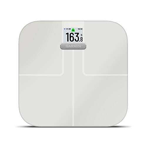 Garmin Index S2, báscula Inteligente con conectividad inalámbrica, Mide la Grasa Corporal, los músculos, la Masa ósea, el Agua Corporal% y más, Blanco (010-02294-03)