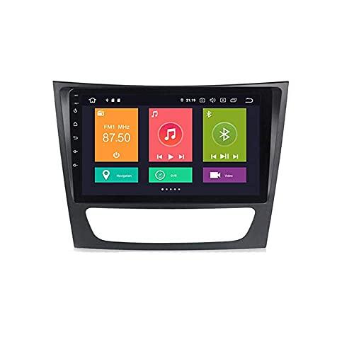 Android 10.0 coche estéreo 2 Din In-Dash Radio para Benz Clase E S211 W211 CLS Clase C219 2002-2010 navegación GPS pantalla táctil MP5 reproductor multimedia receptor de vídeo con 4G/5G WiFi Carplay