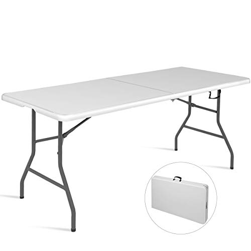 FDS COSTWAY Klapptisch Campingtisch Falttisch Gartentisch Koffertisch Biertisch Esstisch Balkontisch Tisch klappbar (L)