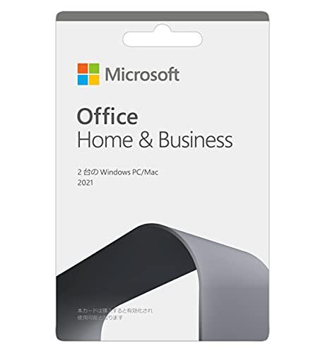 Microsoft Office Home & Business 2021(最新 永続版)|カード版|windows11、10/mac対応|PC2台