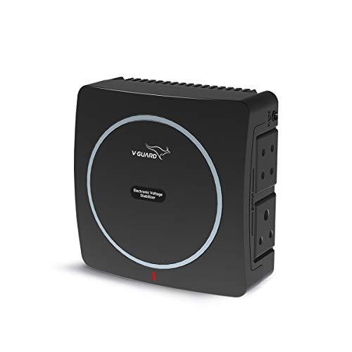 V-Guard Mini Crystal Voltage Stabilizer for up to 32 TV (90 – 290 V) (Black)