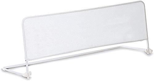 Star Ibaby Babify - Barrera de Cama Abatible 120 cm, Protección Anticaidas, 50 cm de Altura, Color Blanco