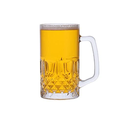 HDHUIXS Taza de Cristal, Taza de Oso Transparente con Mango, Taza de Cerveza, Taza de Agua, Taza de té, Taza de Agua, Taza de café con Mango, Bebida de Vidrio, Jugo (600 ml)