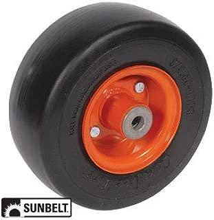 Kubota Front Mower Deck Wheel-Smooth 9X3.5X4 Solid Orange Part No: A-B1CO86 RCK60-F30 RCK60-F36 RCK72-F36 RC54-FZ21 RC60-FZ21 RC60-F20 RC60-F24 RC72-FZ21 RC72-F20 RC72-F24 RC72-F30