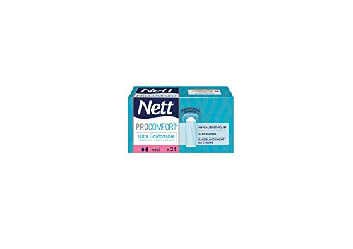 Nett Procomfort Tampon sans Applicateur, Mini, Boite de 24 Tampons