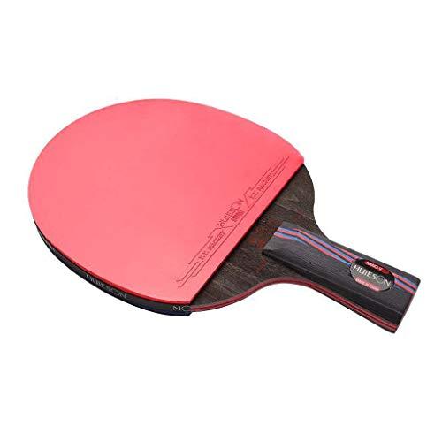 HUIESON de profesión Cola Antiadherente Balance de Ataque y Defensa Raqueta de Tenis de Mesa Rey de Carbono Entrenamiento o Competencia Tabla Bate de Tenis Ping Pong Paddle (Corto)